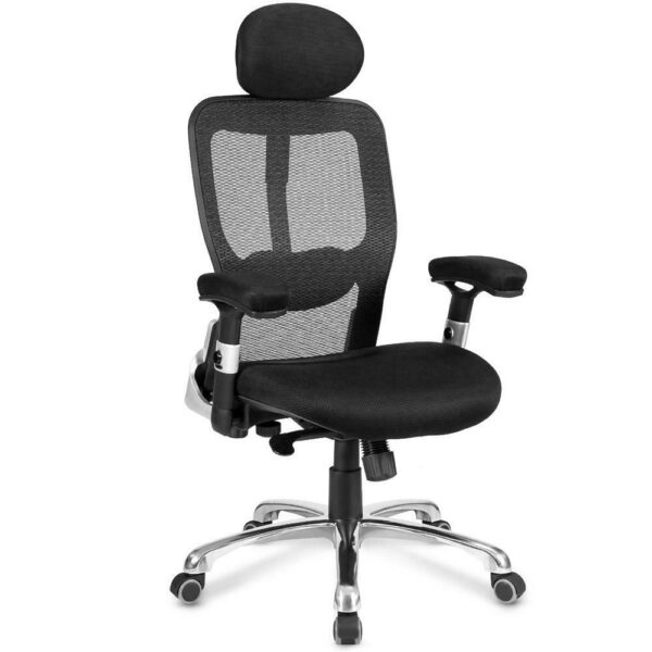 Merax Modern Business Office Mesh Chair Rotating Lift Chair Ergonomic Design Desk Chair Swivel Folding Chair for Home and Office