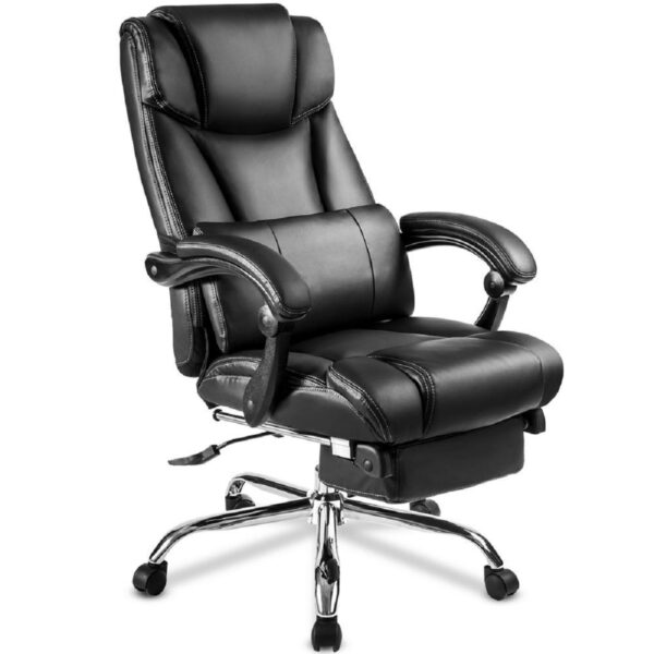 Office Lux Leather Chair Recliner Napping PU Adjustable Rotating Lift Folding